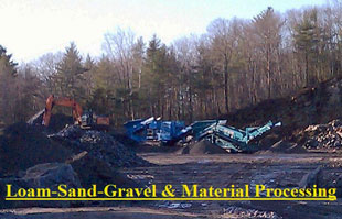 Chase Excavation, Land & Site Clearing, Aggregate Processing, loam, crushed stone, gravel deliveries, Excavation, Falmouth, Cape Elizabeth, Yarmouth, Portland, Cumberland, Maine