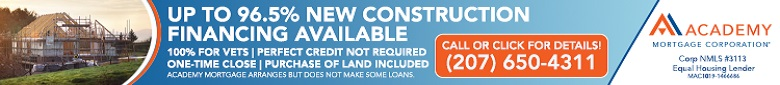 Contact - Jack Heinzman, Senior Loan Officer, 207-650-4311, Academy Mortgage Corporation