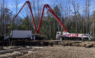 New England Concrete Pump, Concrete Pumping Services, Concrete slabs, driveways, foundations